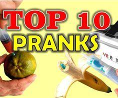 TOP 10 PRANKS - Easy Pranks to Make Your Friends - Aprende como hacer 10 bromas fáciles y divertidas para disfrutar con amigos y familiares. Ideas de bromas con materiales caseros y fáciles de conseguir.