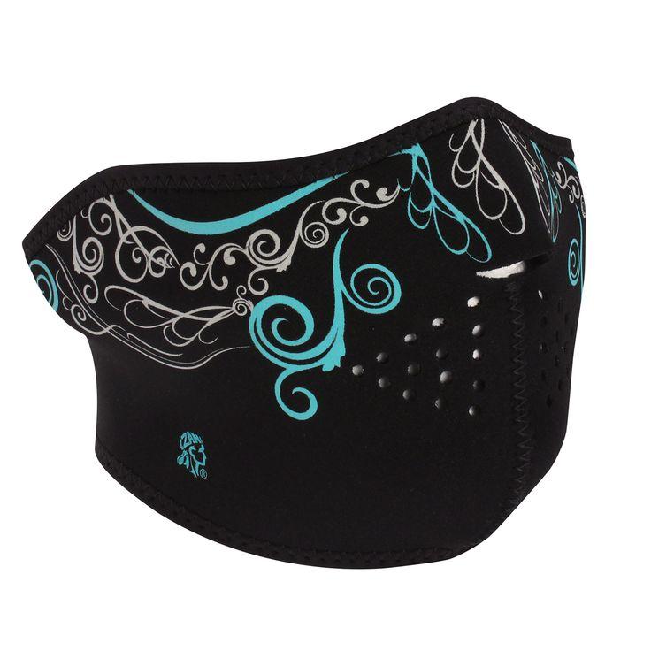Glow in the Dark, Venetian Neoprene Face Mask - Iron Horse Helmets and Biker Masks