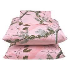 Pink camo sheet set