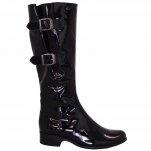 Gabor Verano long boots in black patent