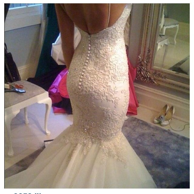 Low Back Mermaid Wedding Dress : Wedding dressses mermaids dresses mermaid