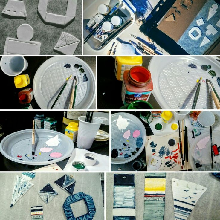 Ciondoli home made:pasta fimo, forno, colori e pennelli