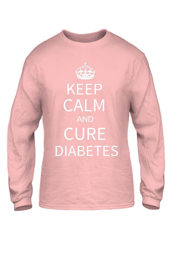 Keep Calm and Cure Diabetes Shirts Basic Long Sleeve
