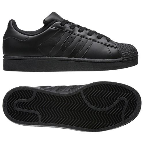 Adidas Superstar Black And Black