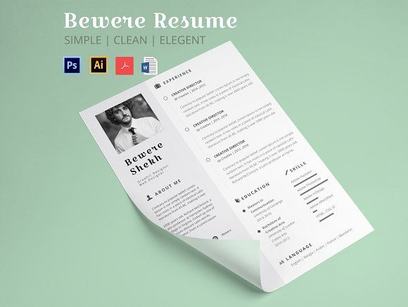 17 Best Ideas About Resume Templates On Pinterest