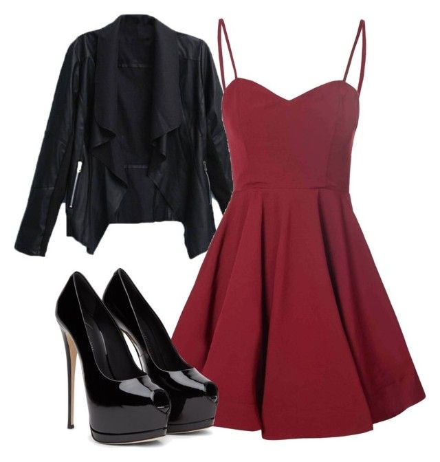 """red and black"" by cierra-k-smith on Polyvore featuring Glamorous"