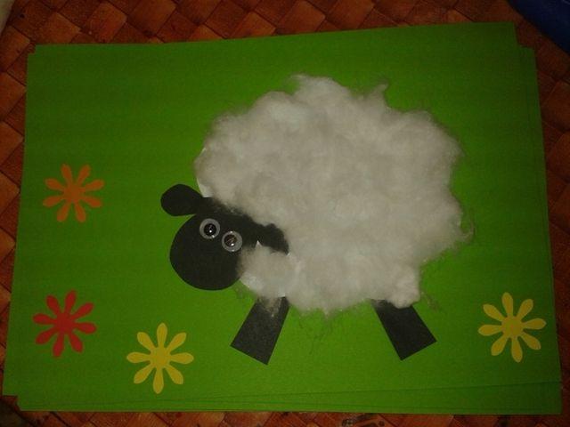 ovečka - z vaty sheep