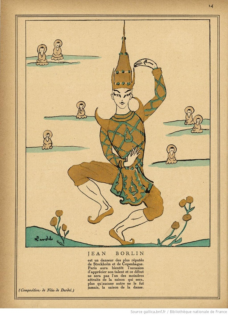 "Nils von Dardel ""Jean Börlin""  in Monsieur Magazine (Paris. 1920)"