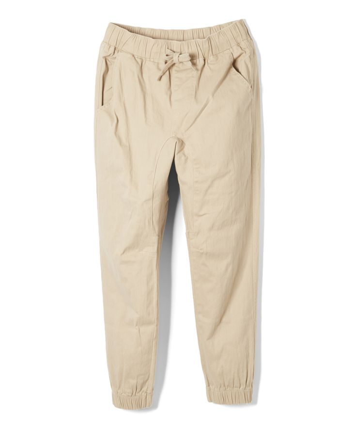 Khaki Jogger Pants - Boys