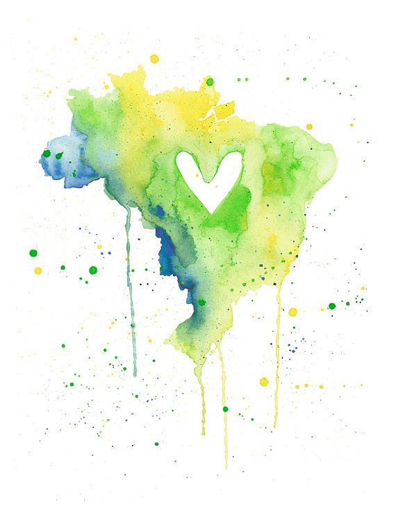 love this print of brazil - definitely  hanging it in the kitchen gallery