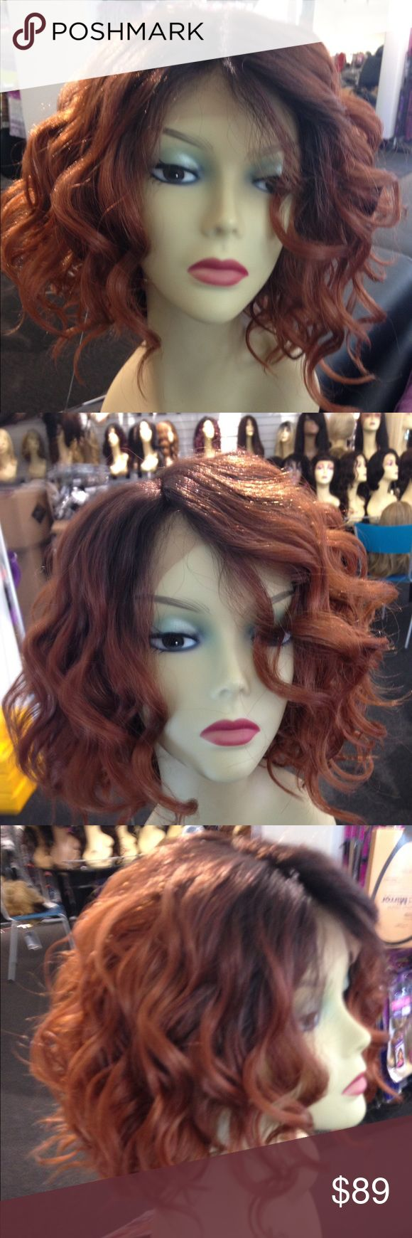 Ombre High Quality Wig check out my closet Wigs High Quality human hair blended with the finest quality fibers you can curl heat resistant adjustable cap wig I ship ASAP Accessories Hair Accessories
