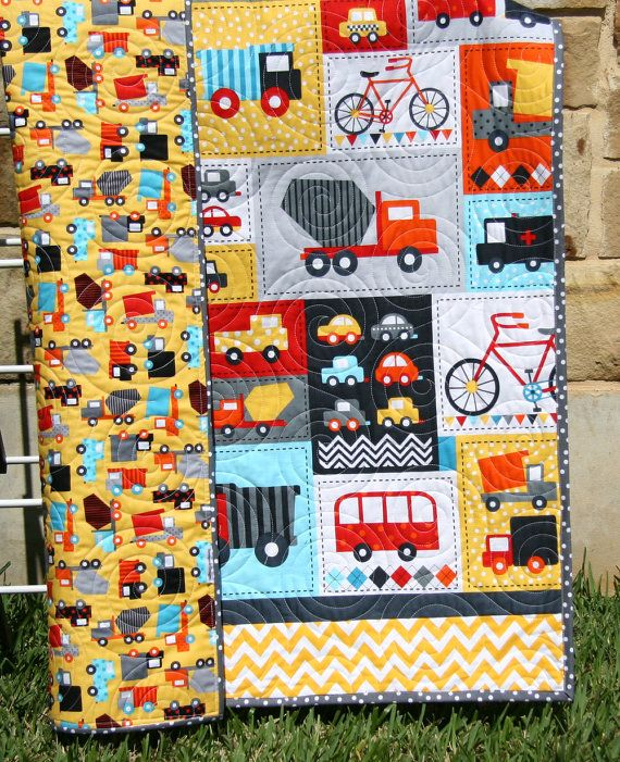 141 best vehicles quilts images on Pinterest | Drawings, Projects ... : toddler boy quilts - Adamdwight.com