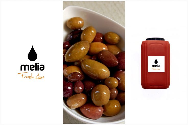 Melia Freshline Kalamata Olives.  Our olives are processed by natural fermentation and packed in brine and red vinegar. Our packaging is plastic barrel (12kgr.) for all varieties of Kalamata Olives, Large, Extra Large, Jumbo and Colossal, Super Colossal, Pitted, Stuffed and Sliced. - www.meliafresh.com