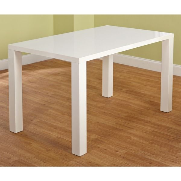 Simple Living Felix Glossy White Dining Table - Overstock Shopping - Great Deals on Simple Living Dining Tables