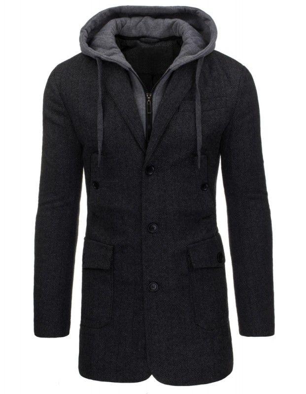 Pánský kabát Lipo, šedý