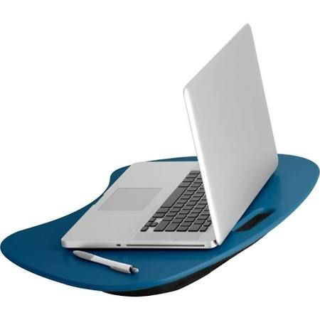 Honey-Can-Do TBL-06321 Portable Laptop Desk with Handle Indigo Blue Home Office Desks & Hutches Laptop Stand  $21 online