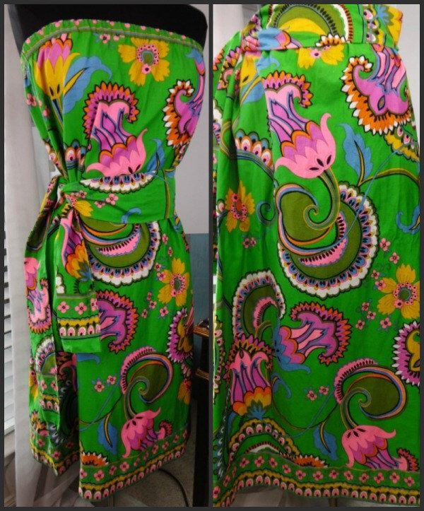 60s Neon Hawaiian Skirt Dress by Alice Polynesian Fashions Beach party Maxi Skirt Bark Cloth Size Med Green Neon Pink Floral Late 60s or 70s by MyRockinHeart on Etsy https://www.etsy.com/listing/462226272/60s-neon-hawaiian-skirt-dress-by-alice