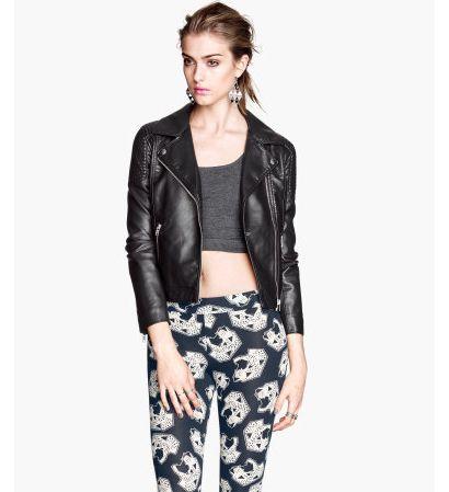 Czarna, skórzana ramoneska - black leather jacket