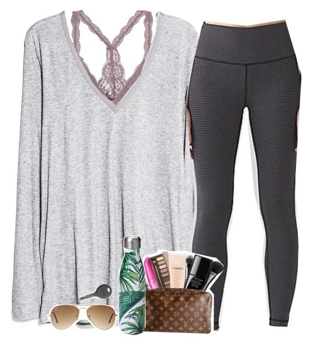 """not afraid anymore~"" by the-preps ❤ liked on Polyvore featuring MANGO, S'well, Ray-Ban and Cherokee"