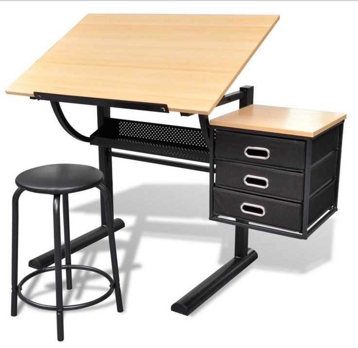Adjustable Drawing Desk Writing Tiltable Student Artist 3 Drawers With Stool New  sc 1 st  Pinterest & Best 25+ Artist drawing table ideas on Pinterest islam-shia.org