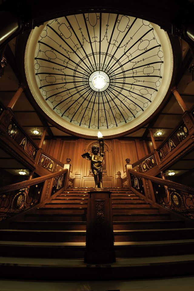 Titanic Ship Artifacts | ... the real Grand Staircase on Titanic | Photo Credit: Marina Bay Sands