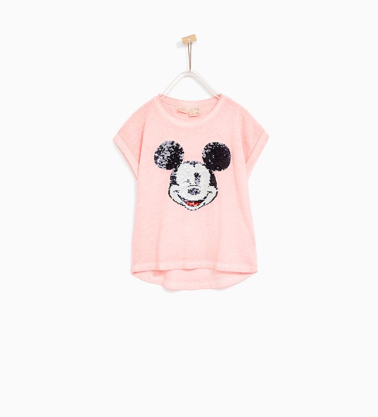 Image 1 of SEQUINNED MICKEY MOUSE T-SHIRT from Zara