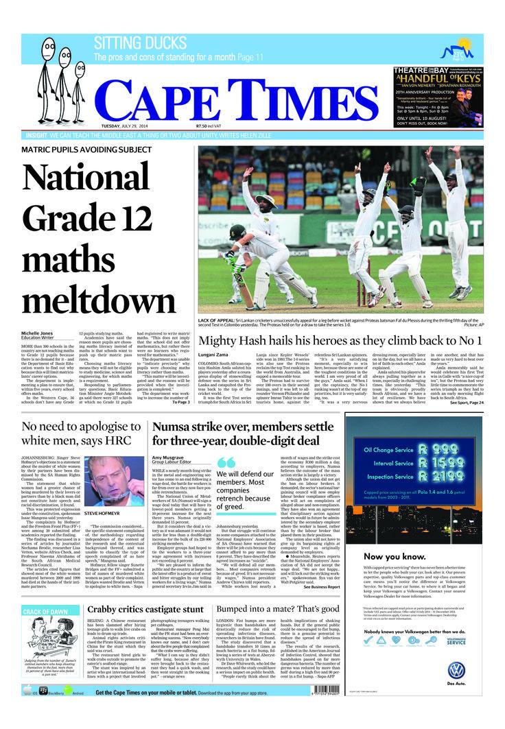 News making headlines: National Grade 12 maths meltdown