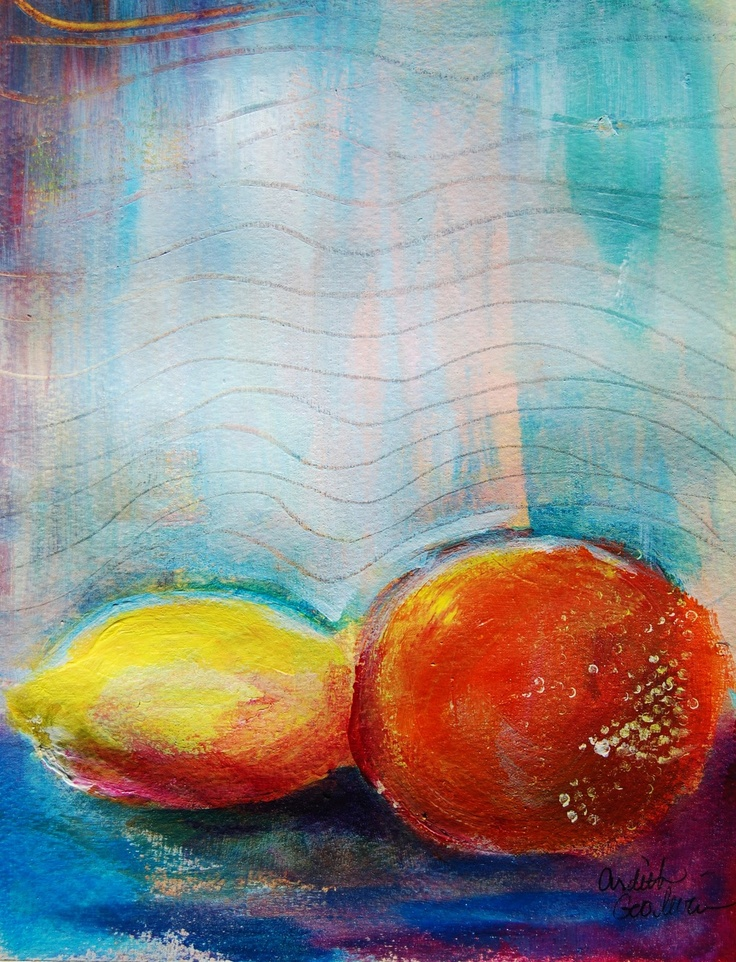 Acrylic Painting Orange Fruit