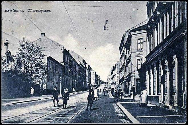 Kristiania Christiania Theresegaten tidlig 1900-tallet