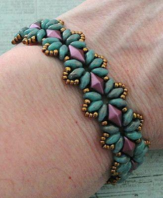 Linda's Crafty Inspirations: Bracelet of the Day: Bisaneta's Bracelet…
