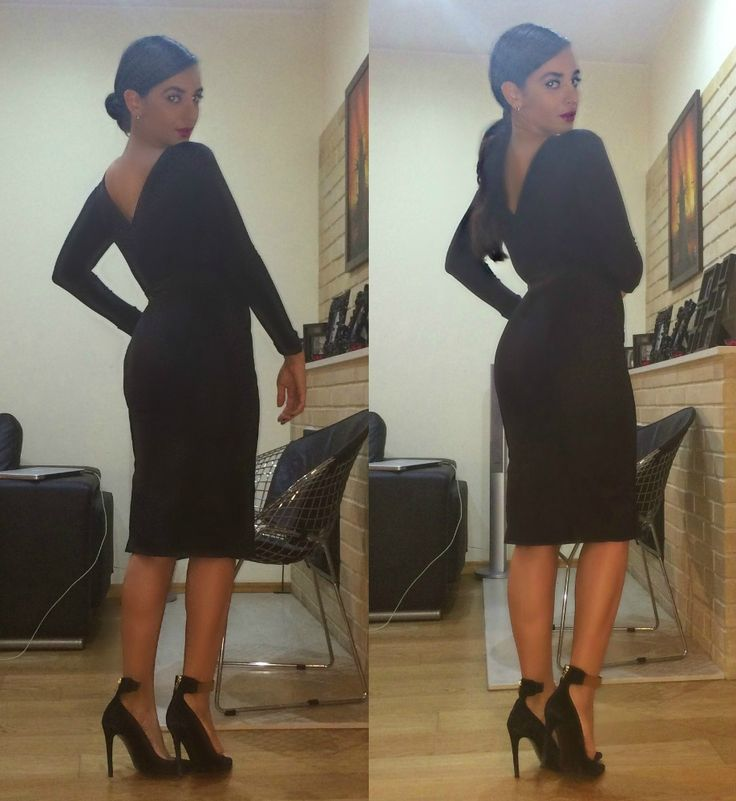Kim Kardashian all black everything Look