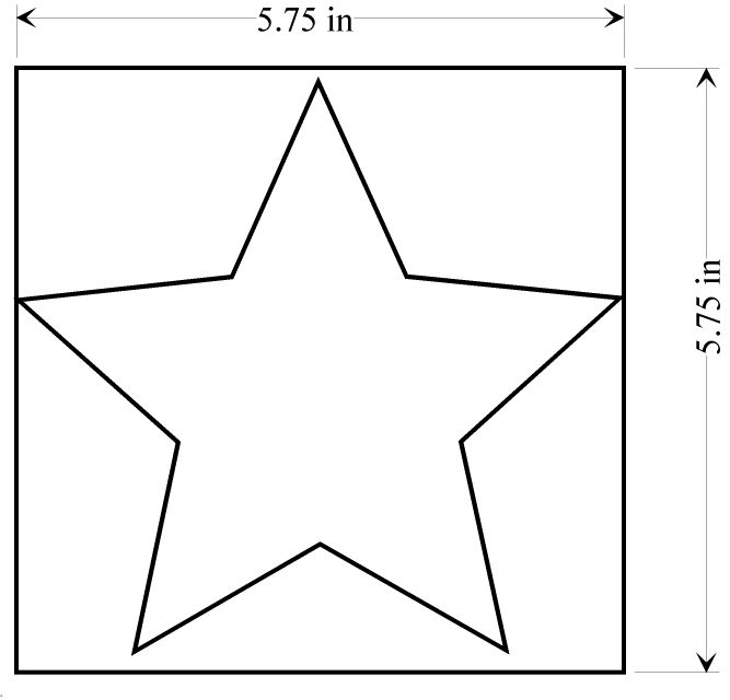 You can cut a large star shape from any size paper without