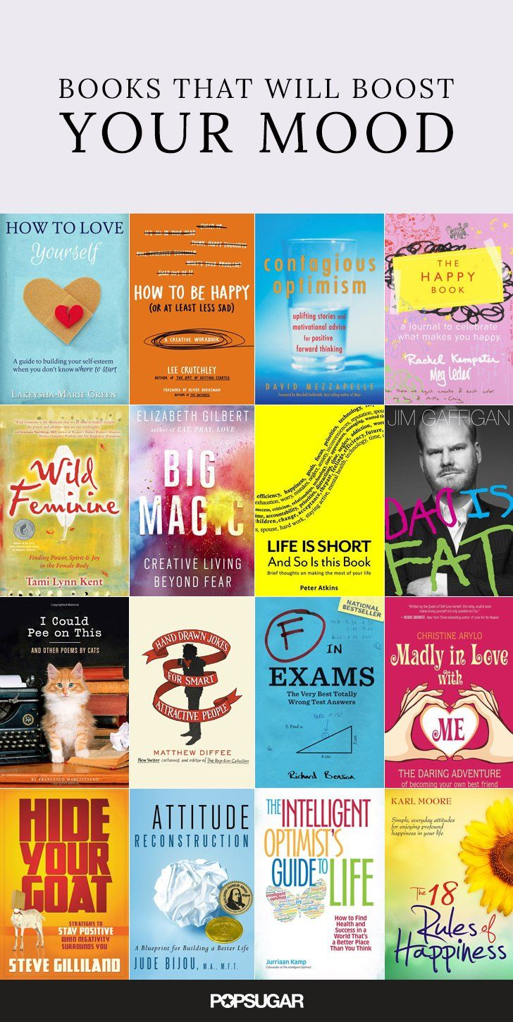 25 Feel-Good Books That Will Boost Your Mood Dunno about this, haven't researched any but I'm going ahead & pinning it!