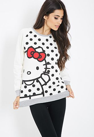 REALLY WANT!!! SIZE LARGE :)Hello Kitty PJ Sweatshirt | FOREVER21 - 2000117530