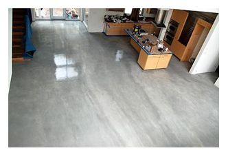Gray Stained Concrete love . I'm in love.. This is exactly what I want!
