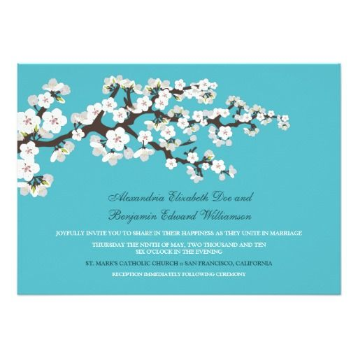 2376 best Cherry Blossom Wedding Invitation images on Pinterest