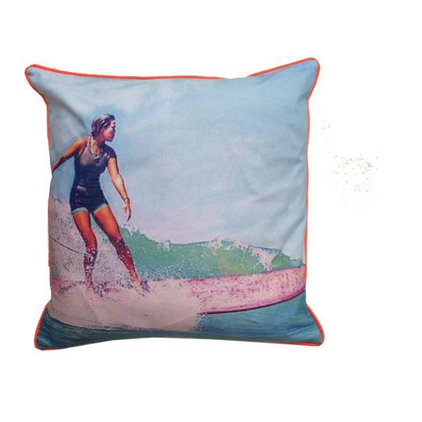 Surfer Girl/ Orange Umbrella/Neon Piping