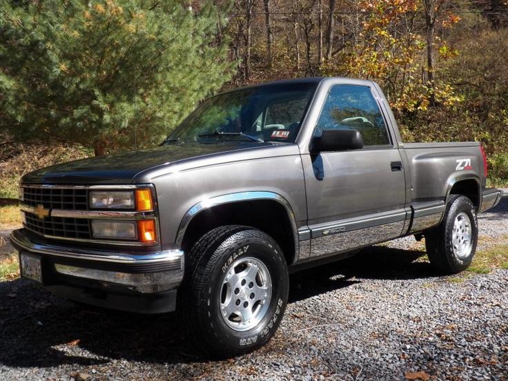 My baby ;) -- 1993 Chevy Z71 4x4 Stepside - 350 - Gunmetal Grey (ac)