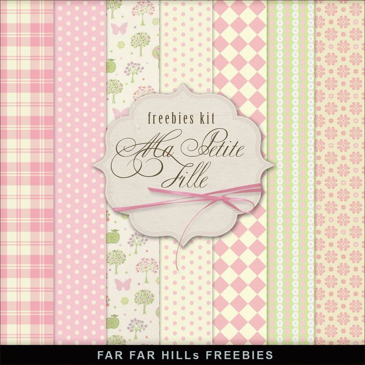 Far Far Hill - Free database of digital illustrations and papers: New Freebies Kit of Backgrounds - Ma Petite Fille