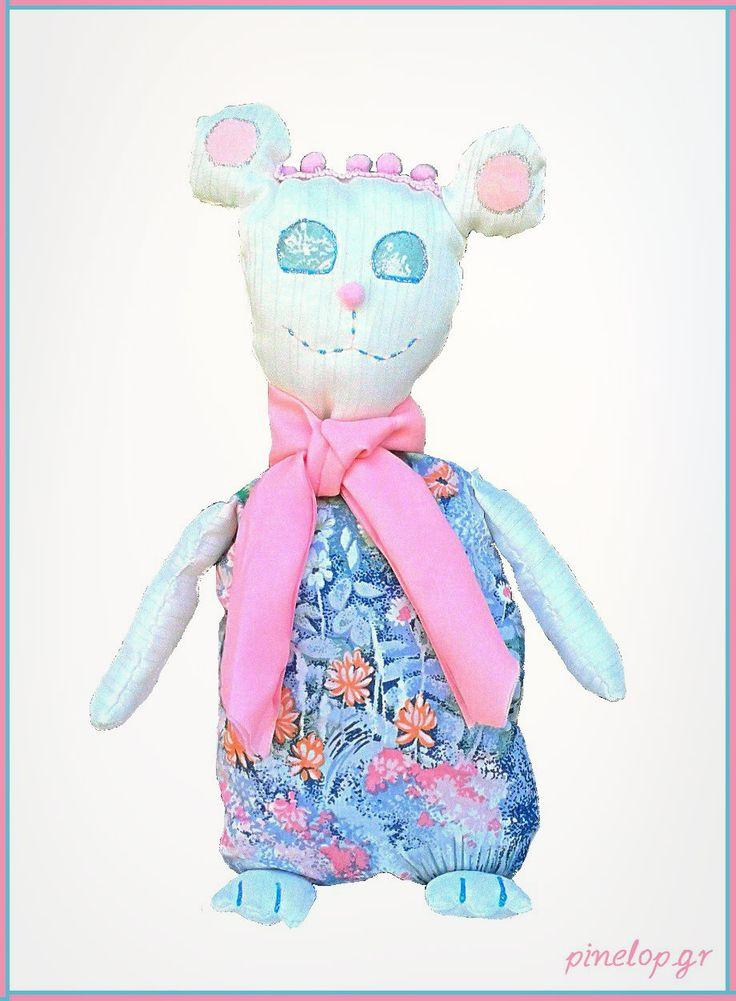 Handmade bear from fabric for little girls!! pinelop.gr facebook.com/pinelopkallitexnimata