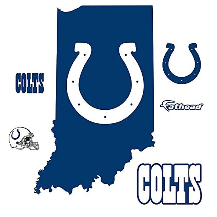 indianapolis colts state of indiana logo wall decal by on wall logo decal id=78659