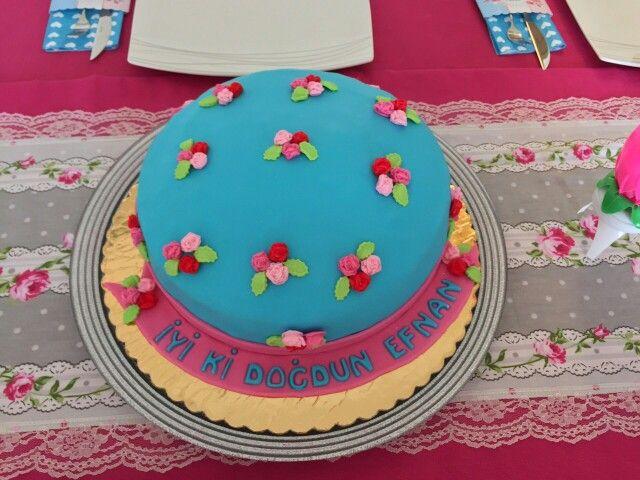 Kızıma yaptığım doğum günü pastası