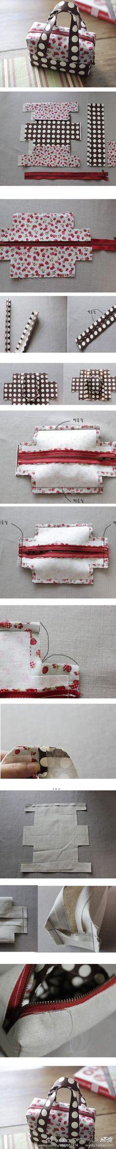 Lunch bag, purse, sewing notions bag, etc.... Cute pattern by TARIKISA