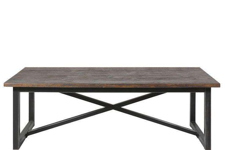 Bucks sofabord - Sofabord i fyrretræ med sort stel. Robust sofabord til stuen, som tilfører rummet et råt touch. Sofabordet har et lækkert og naturligt look.