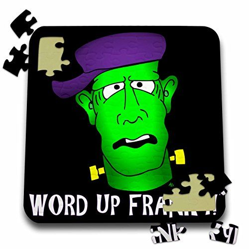 Mark Grace FRANKENSTEIN DUDES Rapper - FRANKENSTEIN RAP word up franky 1 on black - 10x10 Inch Puzzl @ niftywarehouse.com