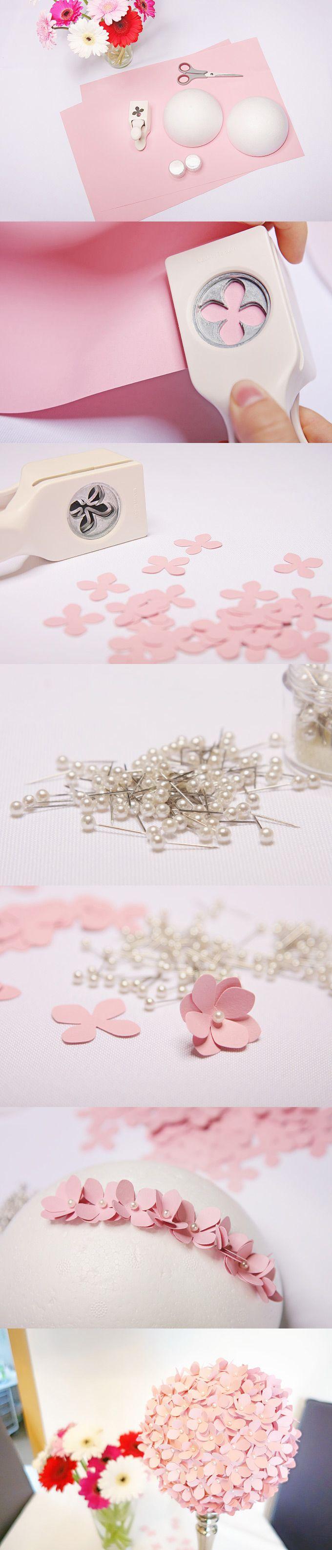 Ihr möchtet noch etwas hübsches für die #Dekoration eurer #Hochzeit selber #basteln? Wir haben aus Tonzeichenpapier, einen Ausstanzer und einigen anderen Sachen einen hübschen #PomPom gemacht. Hier sehr ihr die Schritt für Schritt Anleitung :-)  #Wedding #Deko #Decoration #Rosa #Rose