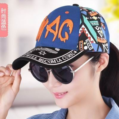 New brand Hat female autumn and winter cap baseball cap fashion print hiphop hip-hop cap outdoor spring and autumn sun hat
