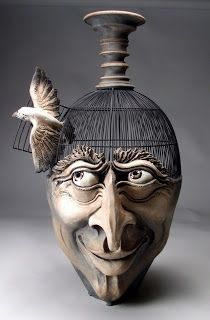 Grafton Pottery Face Jugs. I love this one too, but I have to admit, even though I'm a face jug fan, there is something definitely creepy about him.