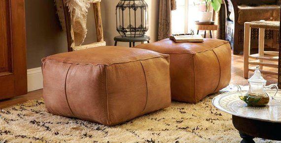 Enjoyable Contemporary Large Square Moroccan Leather Pouf In 2019 Inzonedesignstudio Interior Chair Design Inzonedesignstudiocom