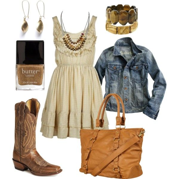 Cute outfit...Cowgirl style at the Houston Rodeo this yr : )